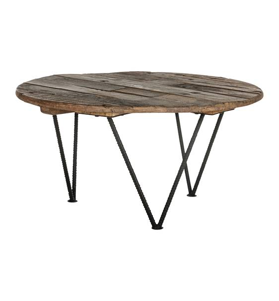 Deer Valley round salontafel € 289,= 90x90x45